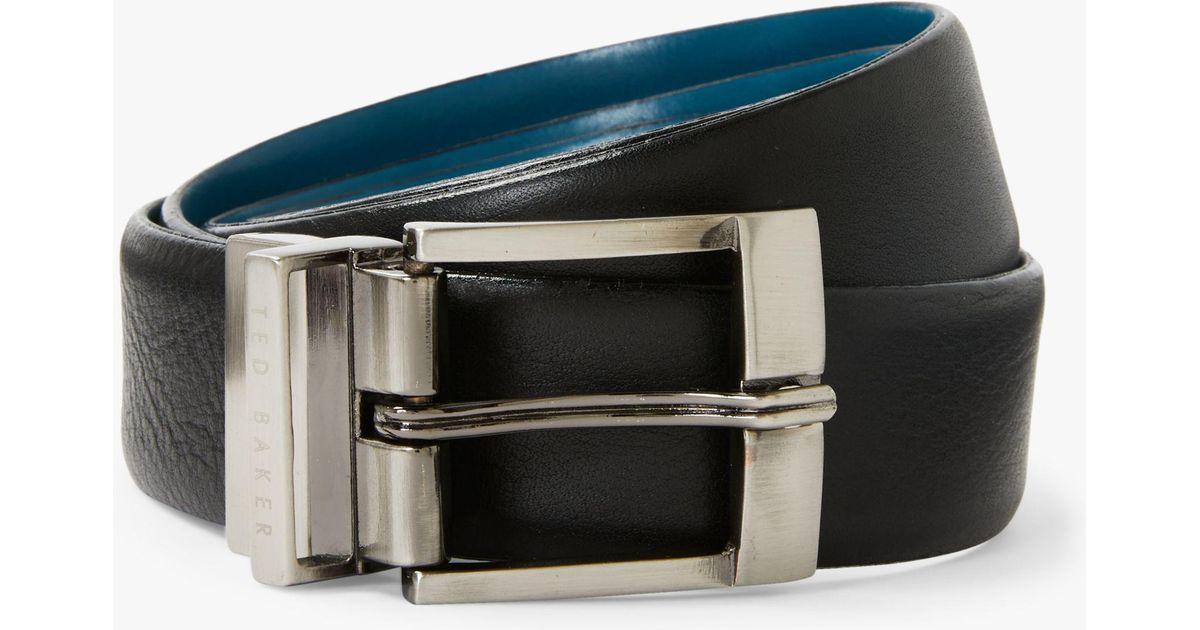75d696060 Ted Baker Longas Leather Belt in Black for Men - Lyst