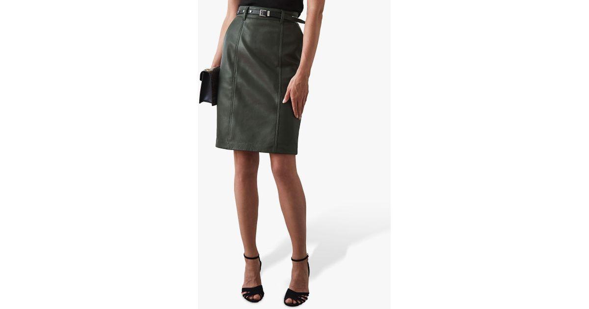 3d1f54221f37bc Reiss Kara Leather Pencil Skirt - Lyst