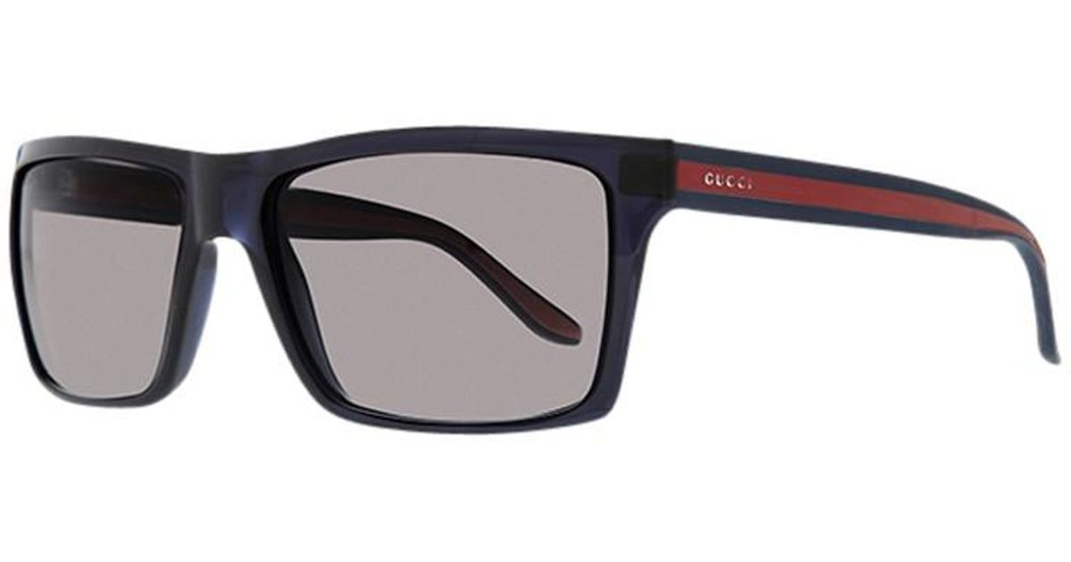 4458011833a Gucci Gg1013 S Square Plastic Frame Sungles In Blue For Men Lyst