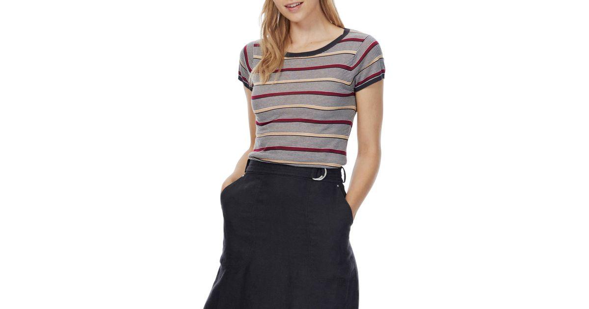 27871bc7f400d0 Brora Metallic Striped T-shirt - Lyst