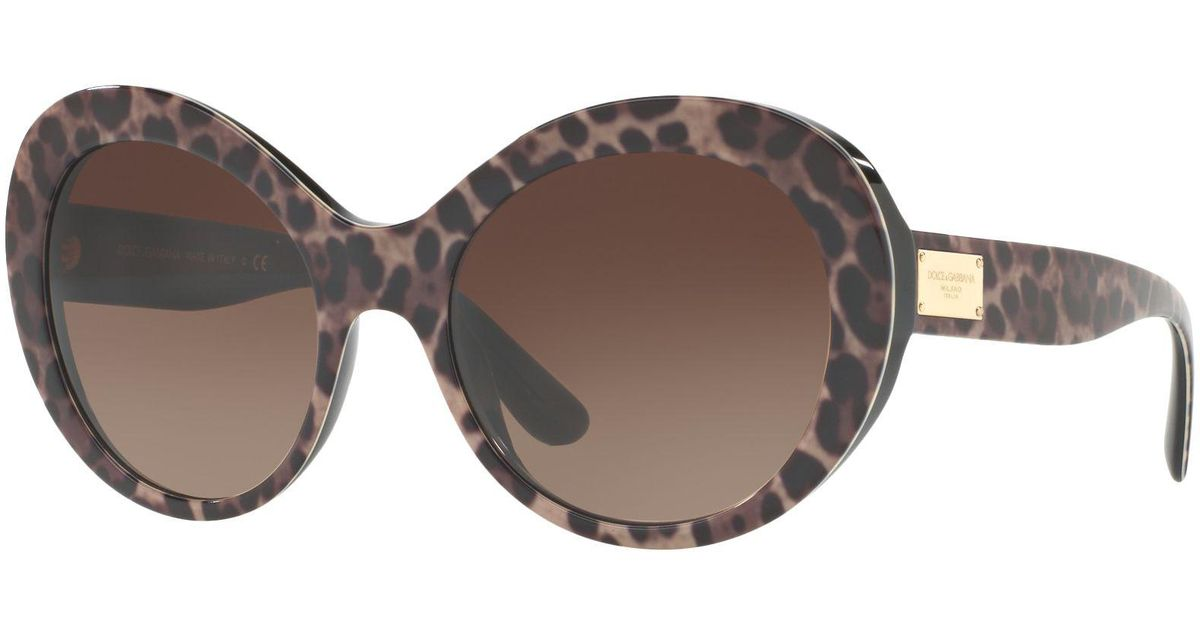 7ab891521372 Dolce & Gabbana Dg4295 Outsize Oval Sunglasses in Brown - Lyst