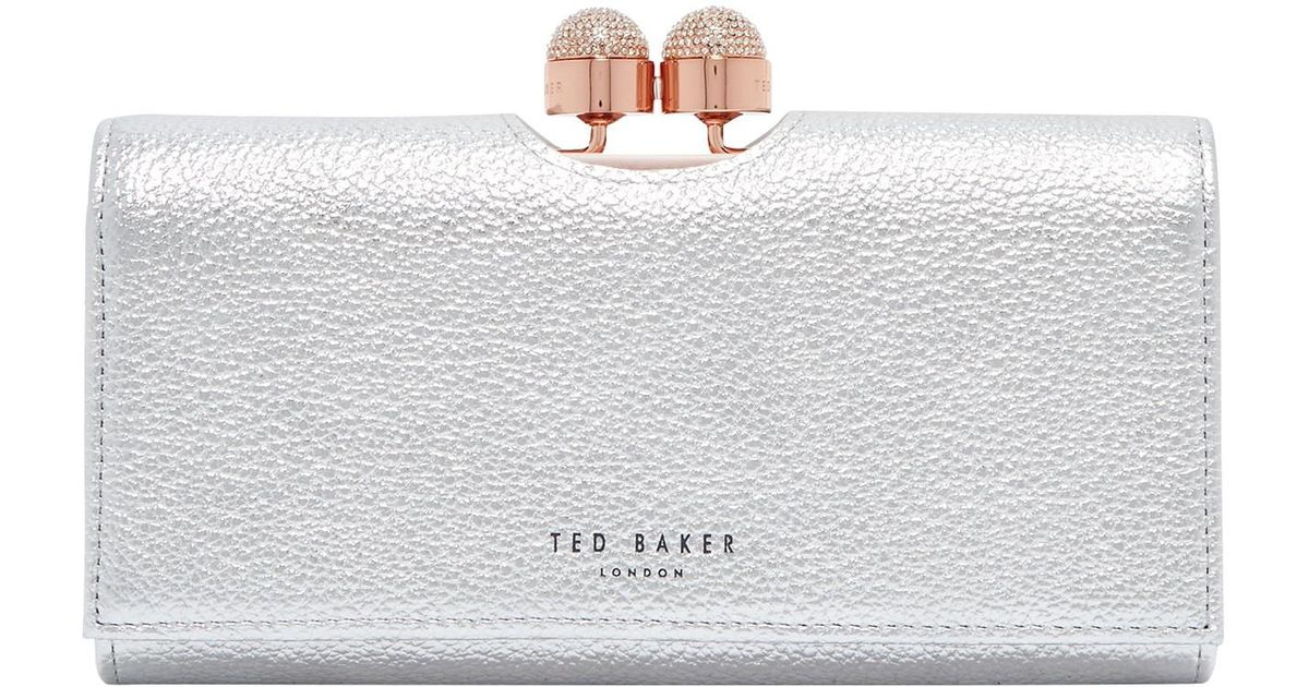 4301dee2eaa76 Ted Baker Pamelia Leather Bobble Matinee Purse - Lyst