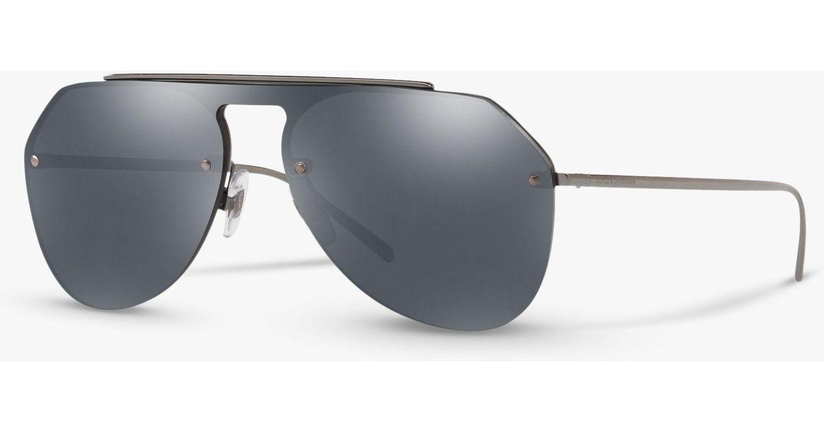 c9ff55bdd1498 Dolce   Gabbana Dg2213 Men s Aviator Sunglasses in Gray for Men - Lyst