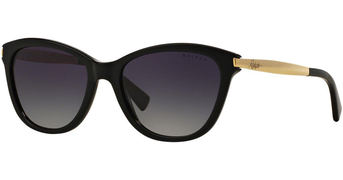7133721957 Ralph Lauren Ralph Ra5201 Polarised Cat s Eye Sunglasses in Black - Lyst