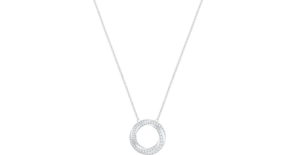 fb30b1c5c47fa Swarovski Metallic Hilt Crystal Swirl Pendant Necklace