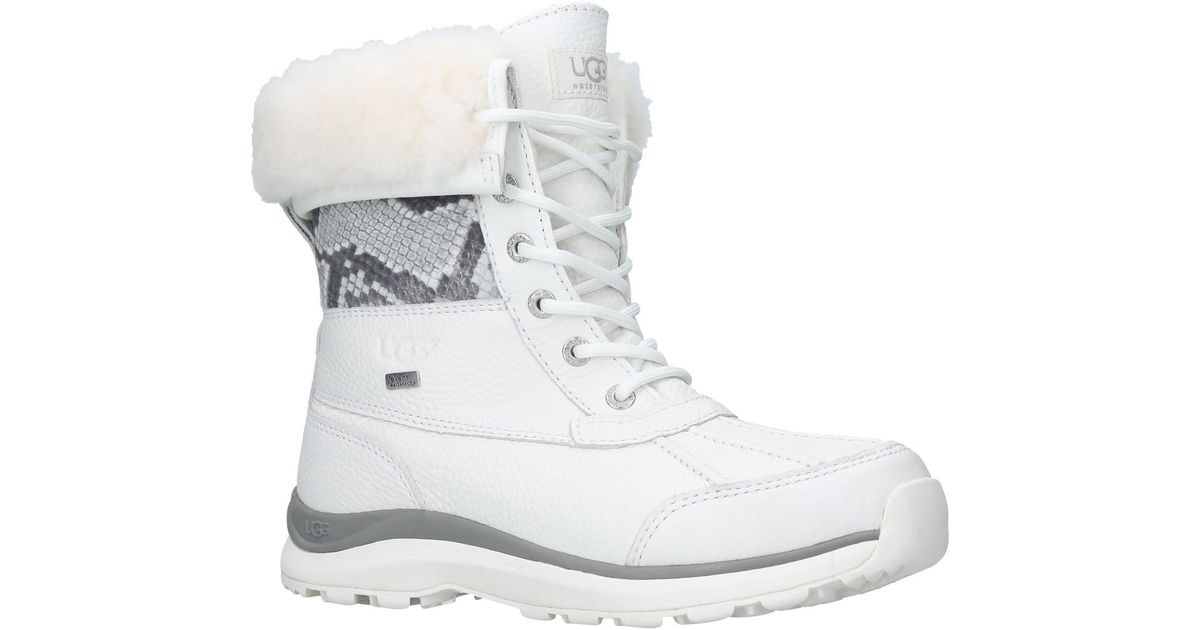 bb9120350cc Ugg White Adirondack Iii Lace Up Snow Boots