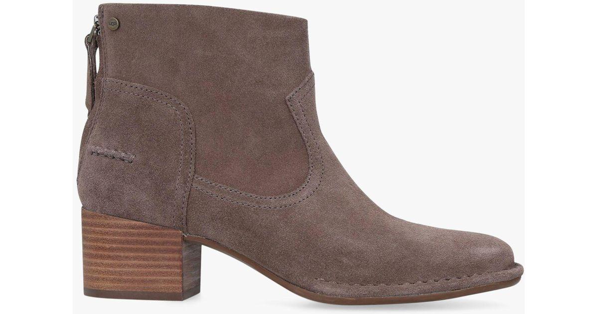 2ce0589b06d Ugg Brown Bandara Block Heel Ankle Boots