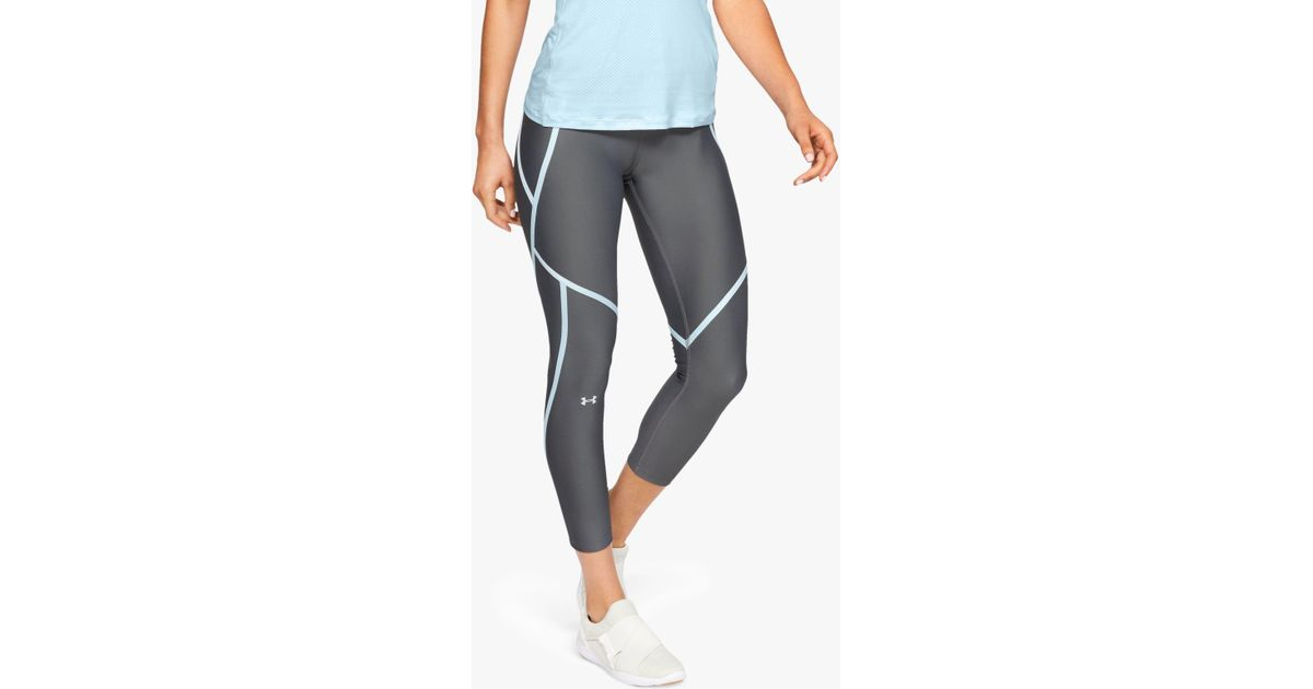 7576a60cd1afec Under Armour Edgelit Training Ankle Cropped Leggings in Gray - Lyst