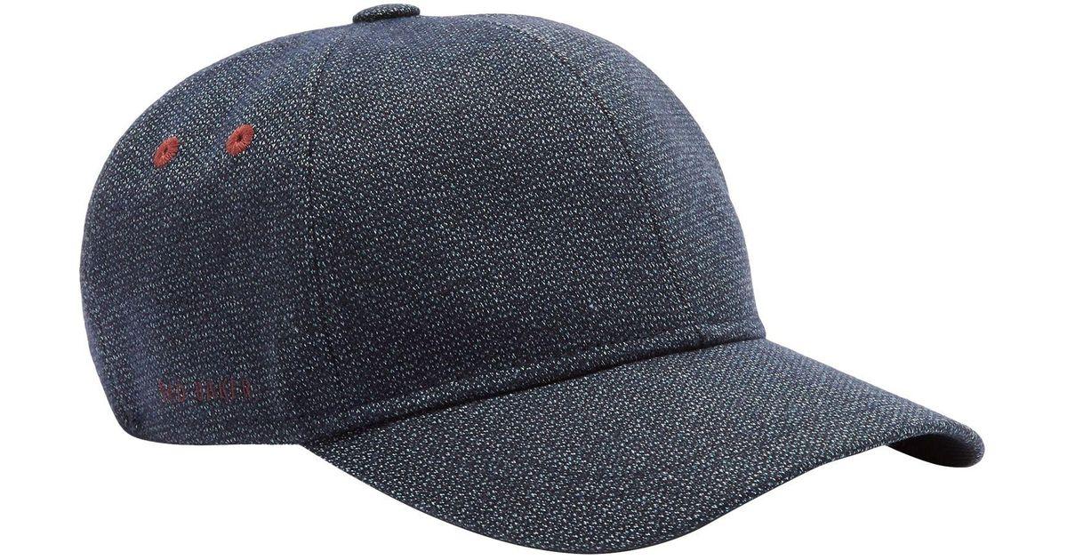 e0a678641ce Ted Baker Norden Baseball Cap in Blue for Men - Lyst