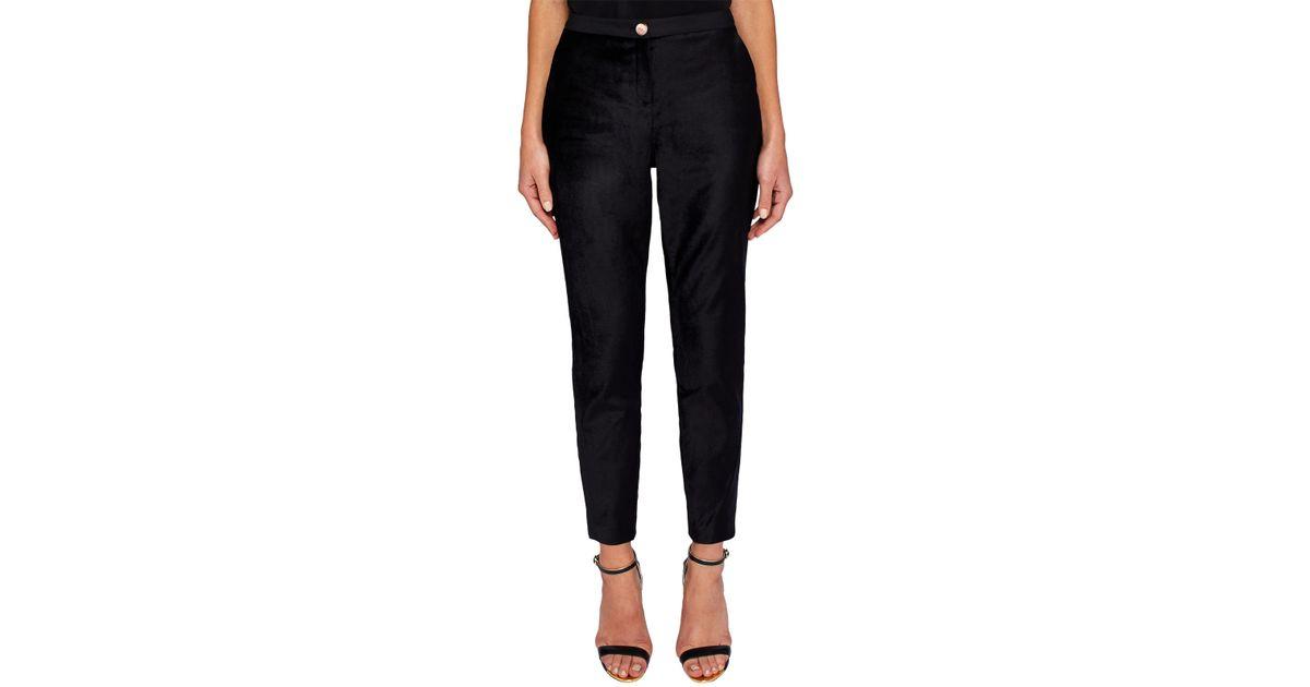 f02a5c17776502 Ted Baker Kairaat Velvet Suit Trousers in Black - Lyst