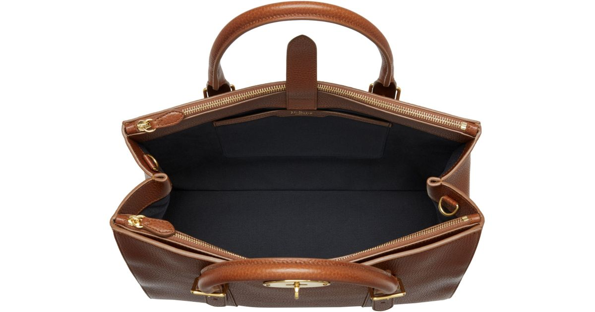 ... czech john lewis mulberry bayswater leather large double zip tote bag  in brown lyst 24c65 bfcfd 046682a4862d8