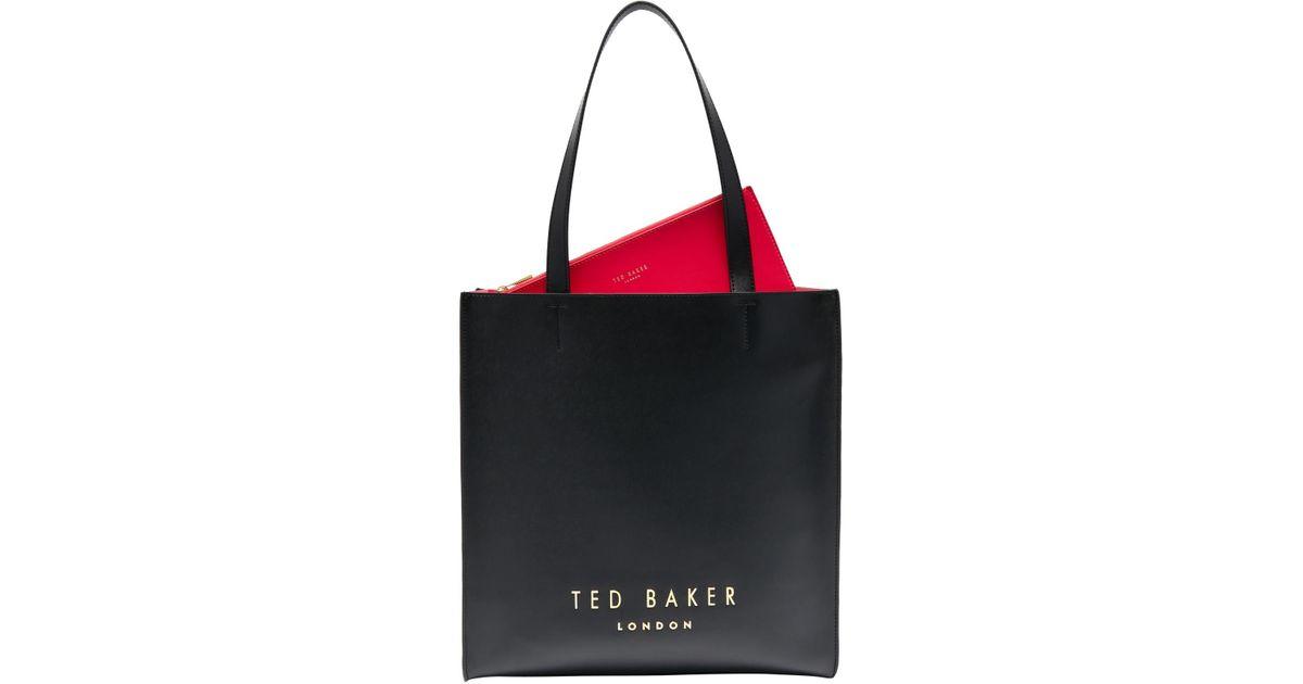 ae4a2c99f Ted Baker Elissa Leather Shopper Bag in Black - Lyst