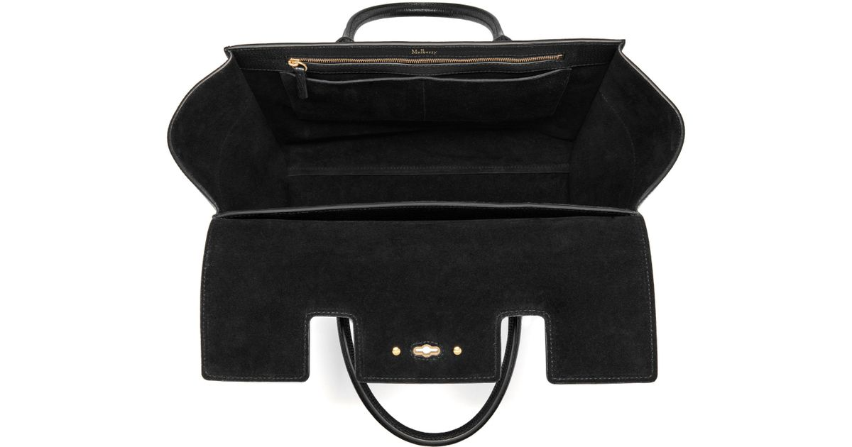 7af8a5eac1 John Lewis Mulberry Bayswater Strap Small Classic Grain Bag in Black - Lyst