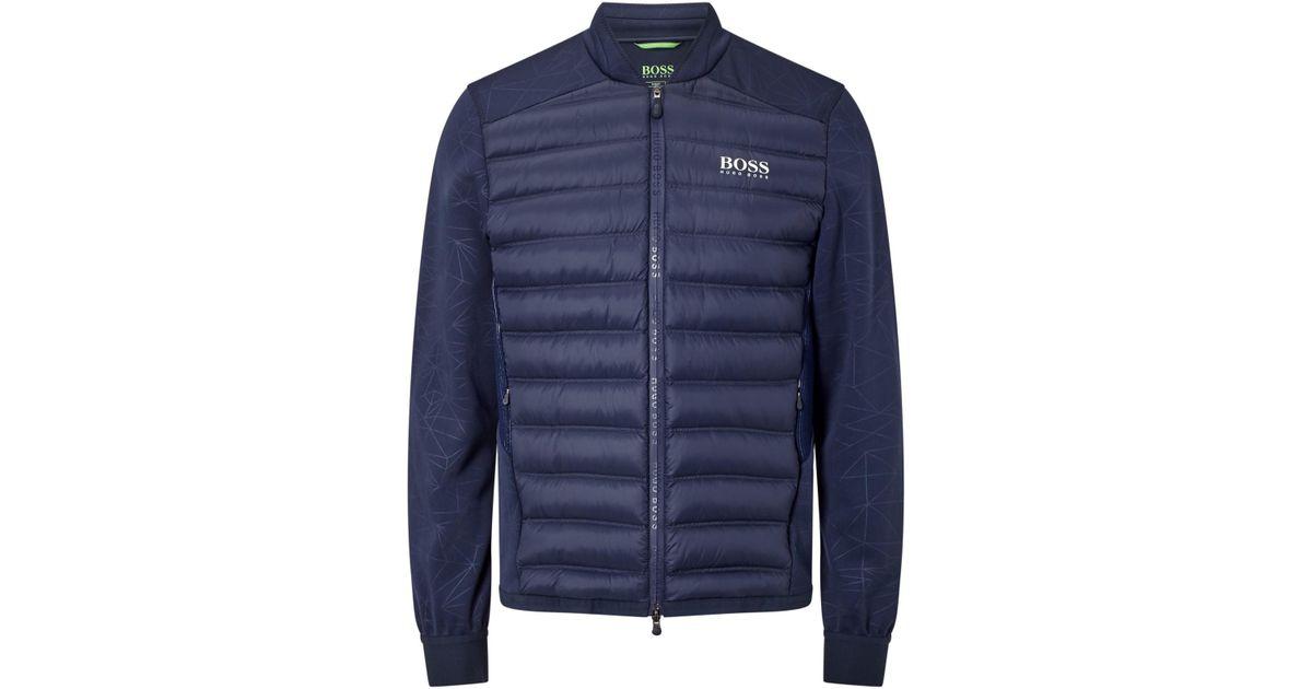 bc526cdc6 BOSS Boss Green Pro Golf Jalmstad Pro Padded Jacket in Blue for Men - Lyst