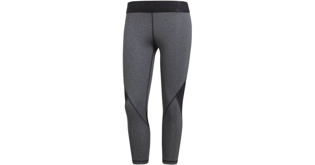 Adidas Alpha Skin Sport 3 4 Length Training Tights in Gray - Lyst 7fc26270d7