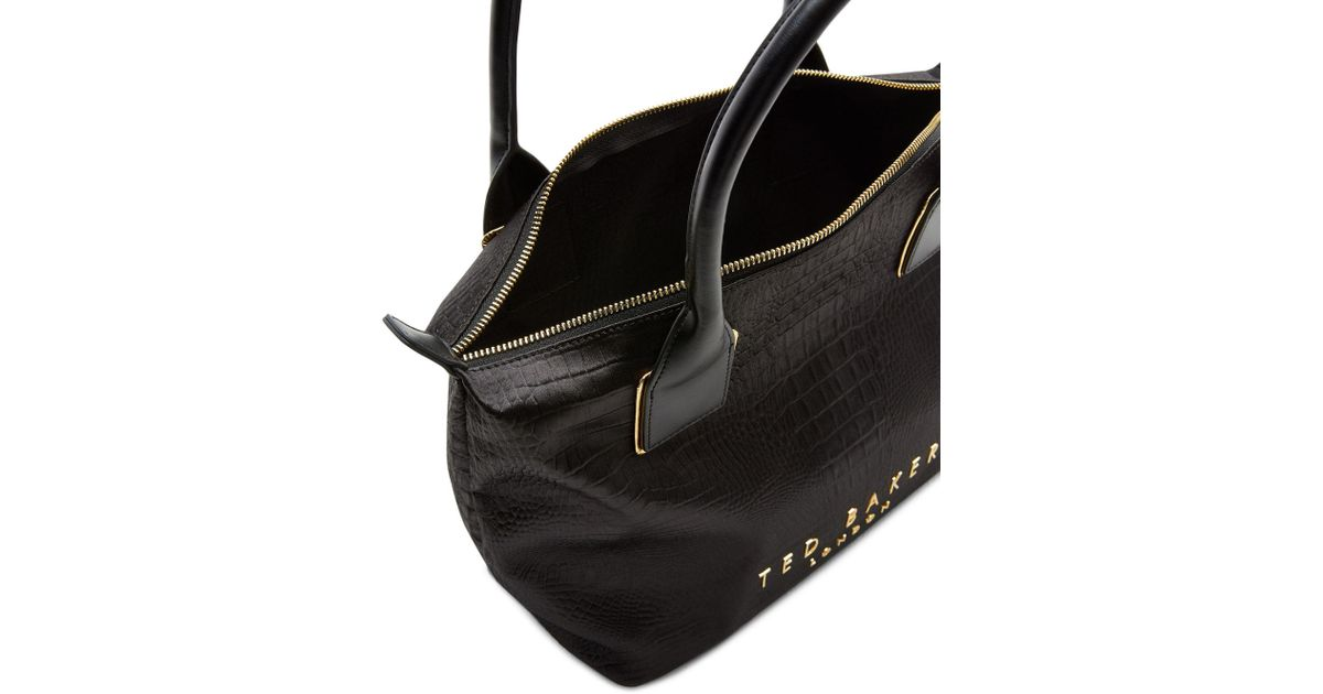 afd44d08cdd John Lewis Ted Baker Zetaa Exotic Small Tote Bag in Black - Lyst