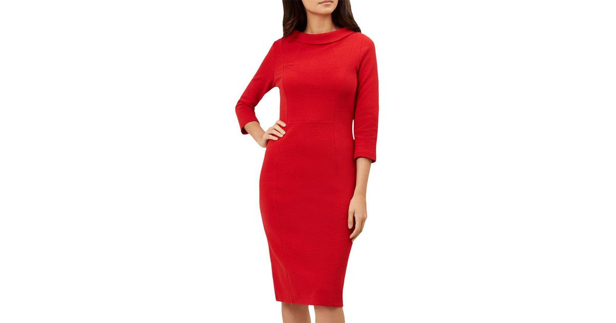 7d6e3c20 Hobbs Red 'cordelia' Dress in Red - Lyst