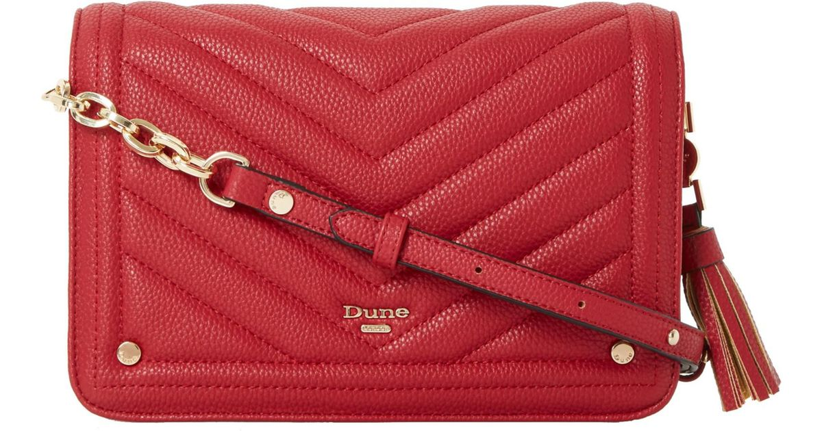 0b3fe09538346 Dune Dathy Quilted Across Body Bag in Red - Lyst
