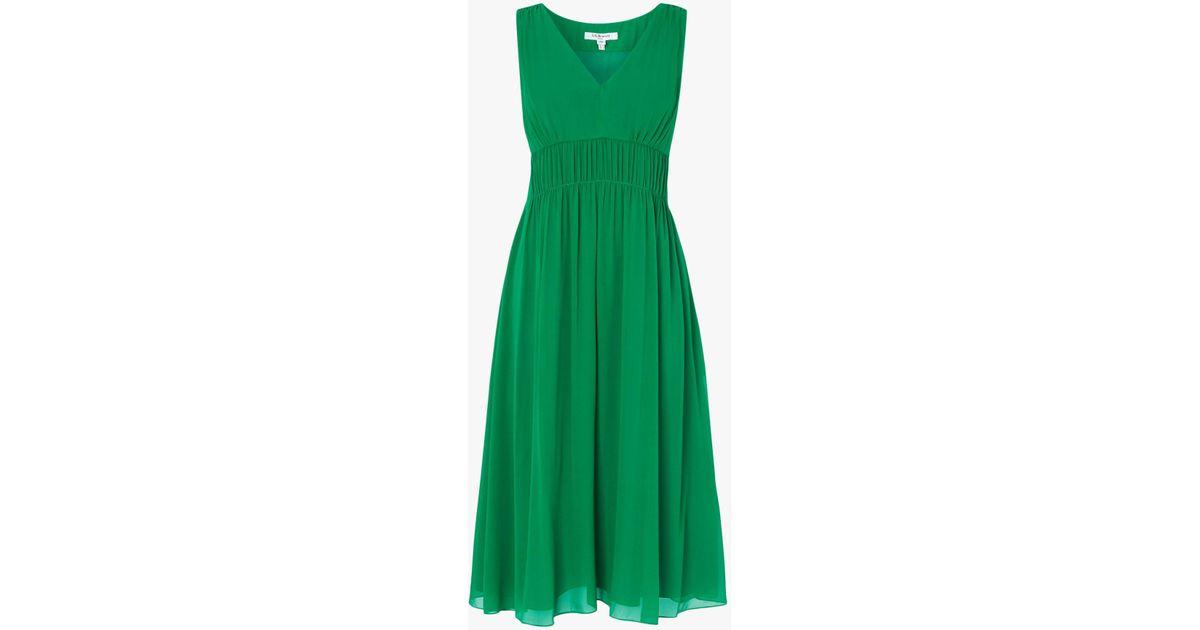 L K Bennett Greca Bridesmaid Dress In Green Lyst