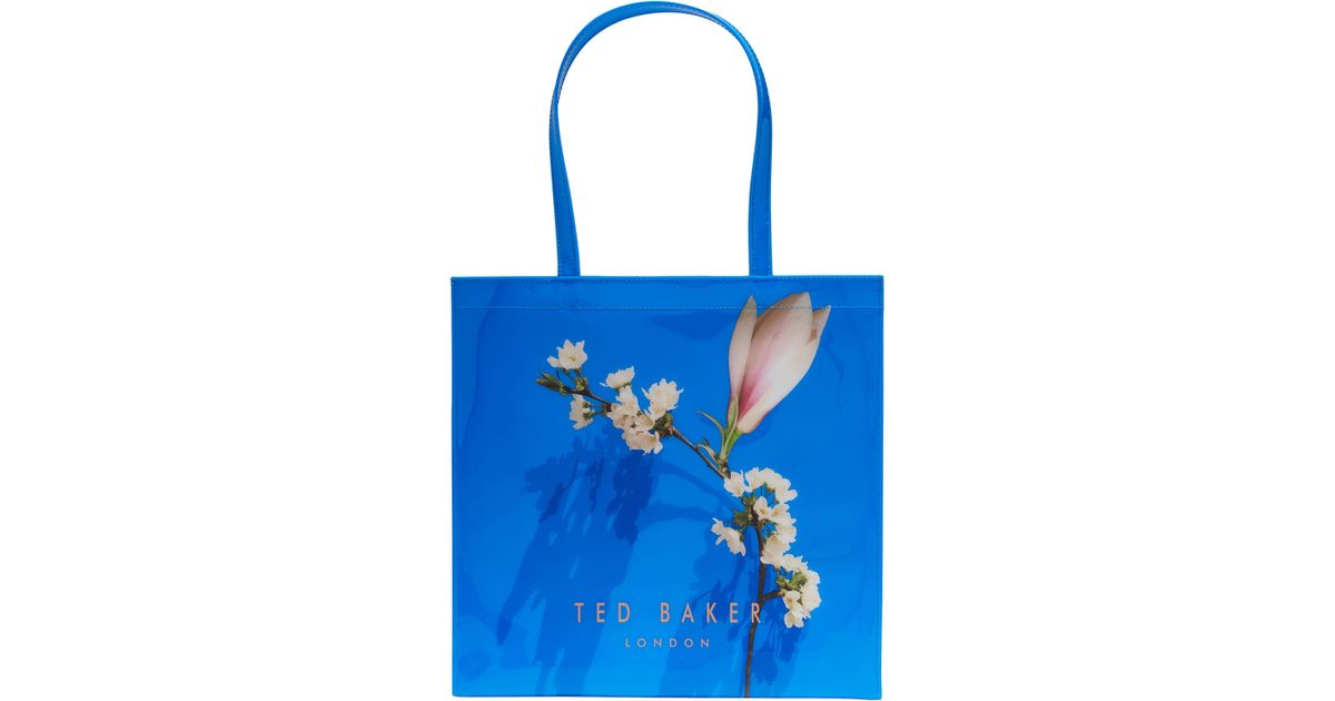 5ce86556e53908 Ted Baker Avalcon Harmony Large Icon Shopper Bag in Blue - Lyst