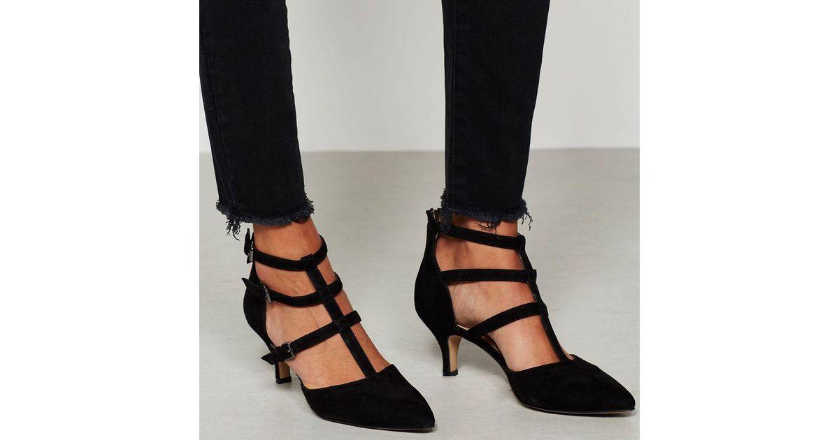 thoughts on wholesale price best John Lewis Black Mint Velvet Laurie Triple Strap T-bar Court Shoes