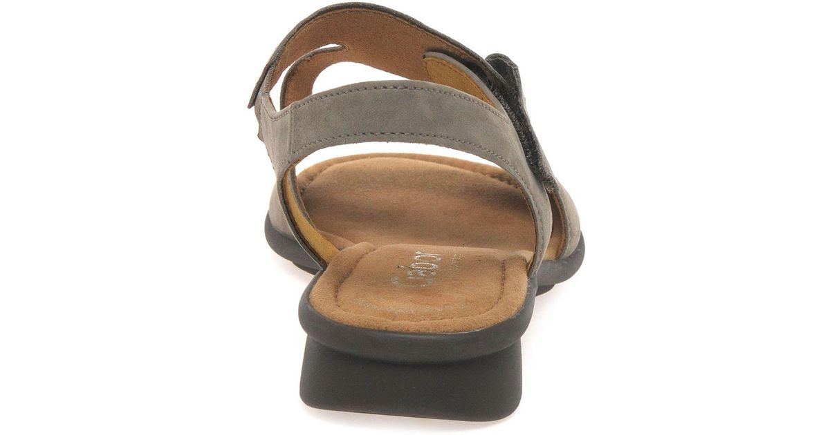 Gabor Mostic Wide Fit Sandals in Beige