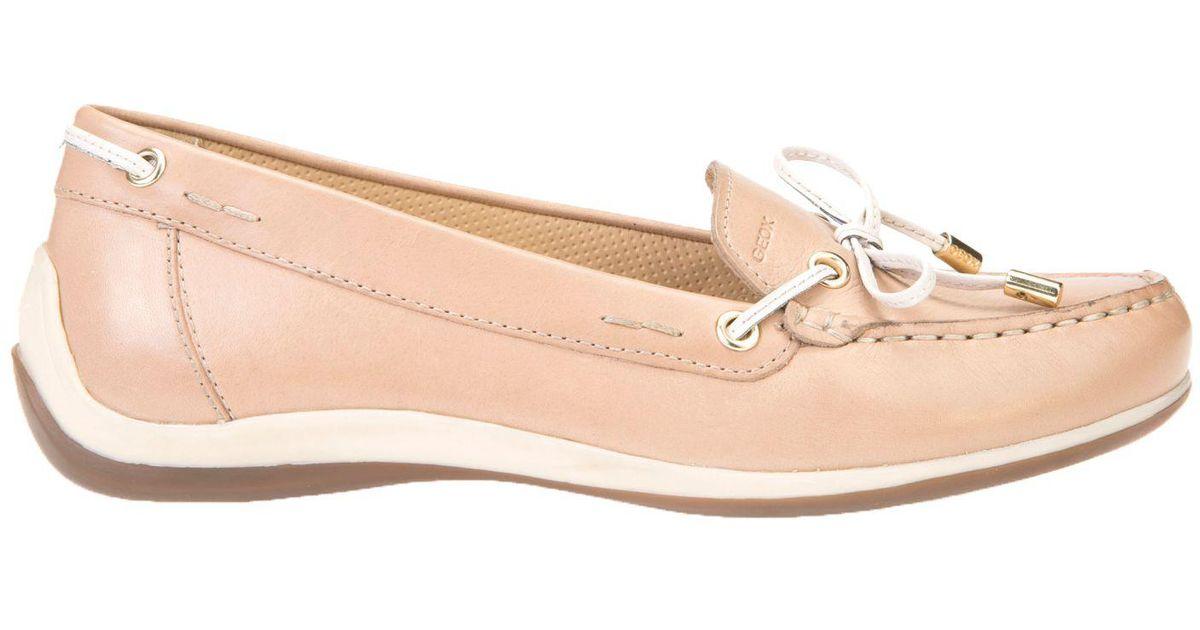 49b5d0b4db7 Geox Women s Yuki Flat Loafers in Pink - Lyst