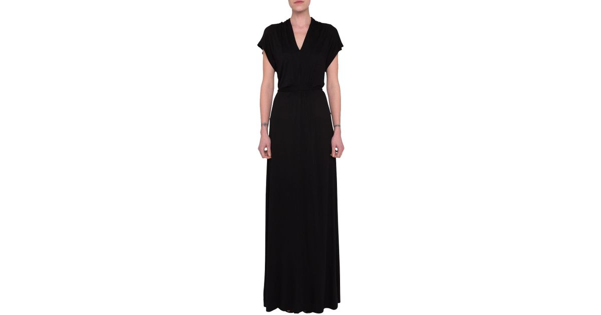a39b85b93d5 French Connection Meadow Jersey V-neck Maxi Dress in Black - Lyst