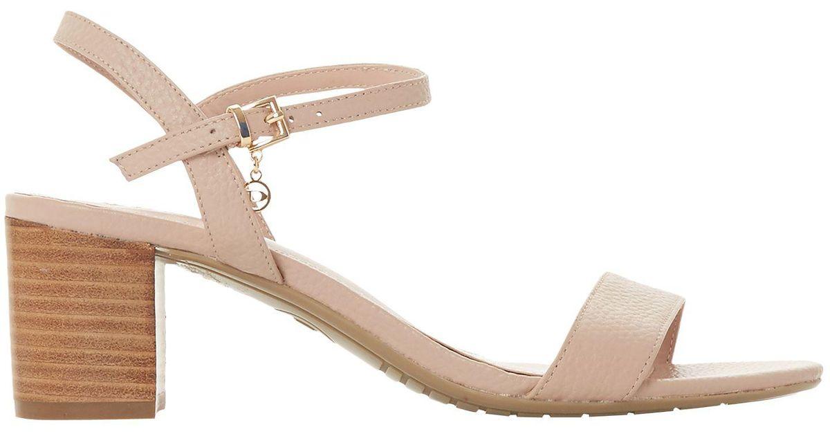 9e4c160fdf5 Dune Jiggle Block Heel Sandals in Natural - Lyst