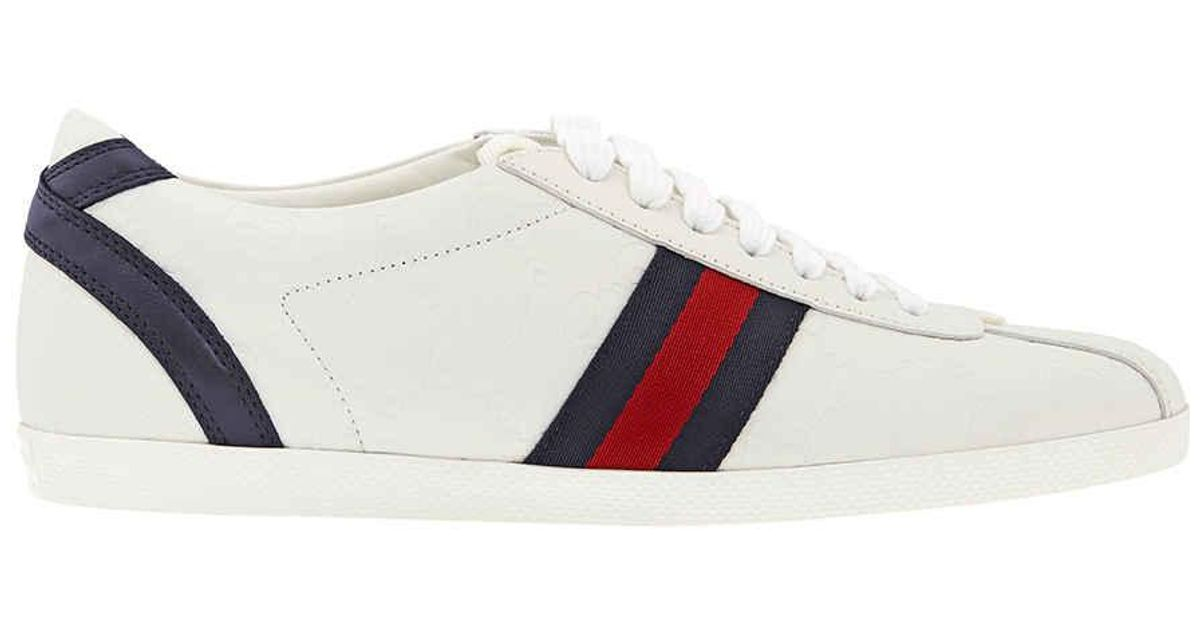 White Leather Sneaker - Lyst