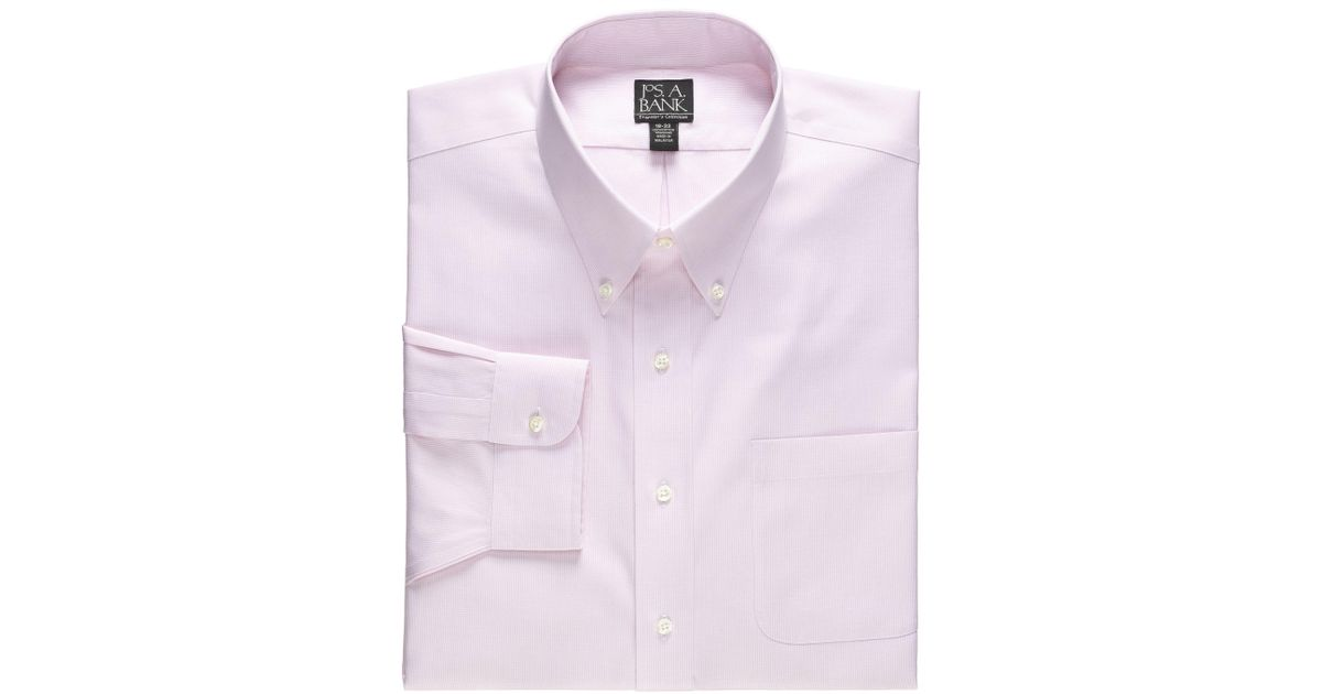 Lyst jos a bank traveler collection traditional fit for Tall collar dress shirts