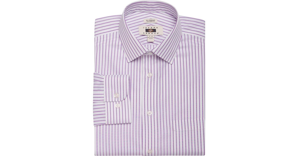 Jos a bank joseph abboud tailored fit spread collar for Tailored fit dress shirts