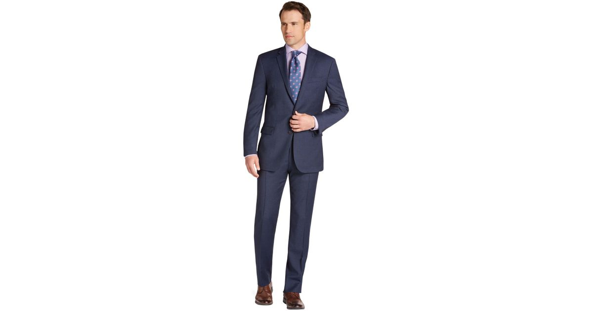 979150dbe5d Lyst - Jos. A. Bank 1905 Collection Slim Fit Mini Check Suit in Blue ...