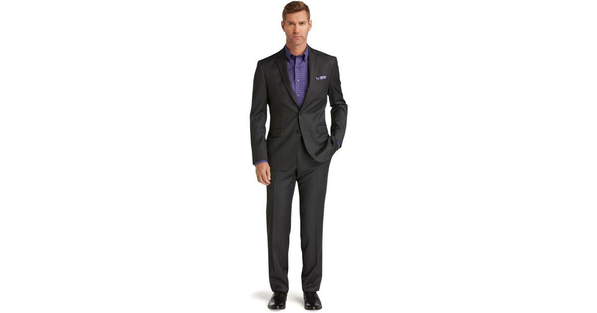 Jos. A. Bank Black Traveler Collection Slim Fit Sharkskin Suit for Men Lyst