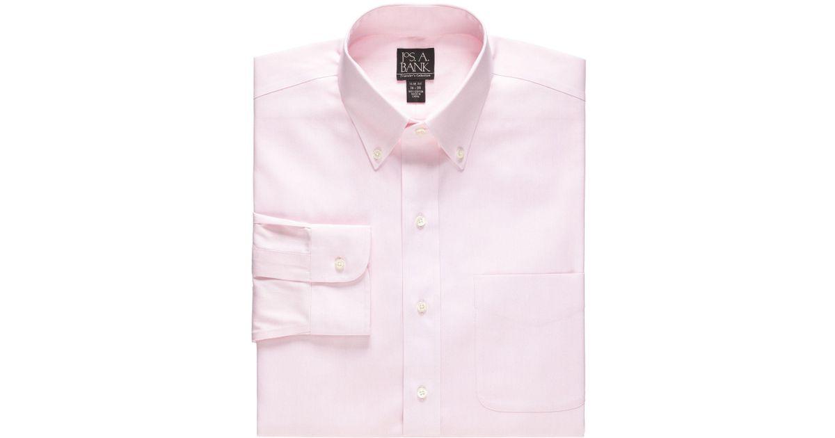 Jos a bank traveler buttondown tailored fit dress shirt for Jos a bank slim fit vs tailored fit shirts
