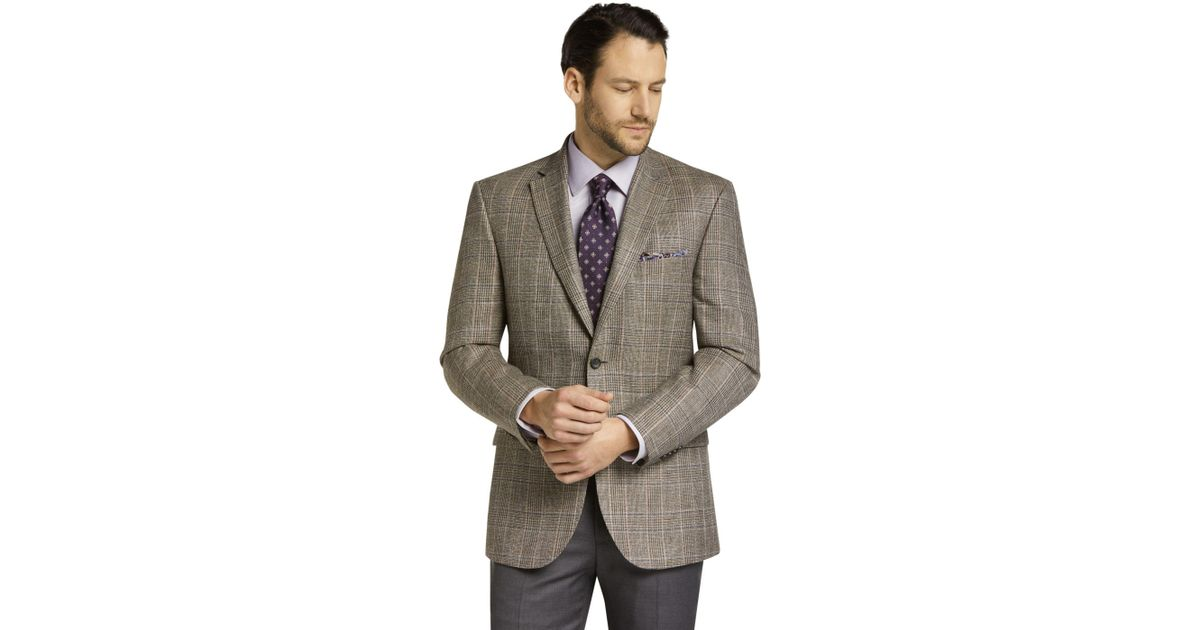 4cb6748f11a Lyst - Jos. A. Bank Reserve Collection Tailored Fit Plaid Sportcoat ...