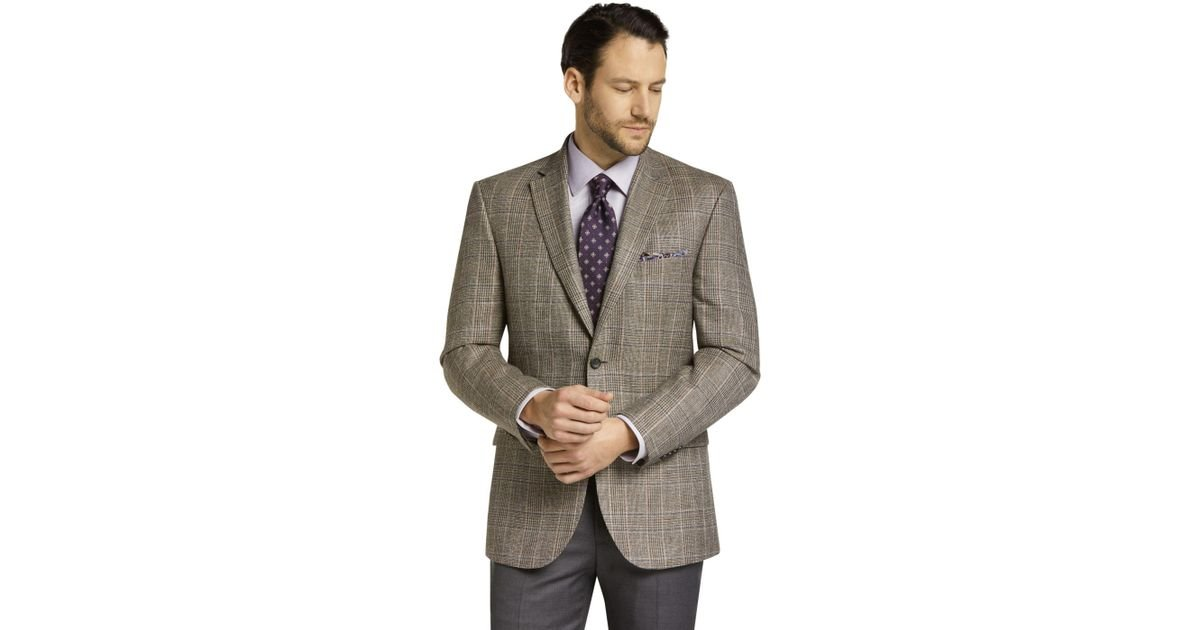 b12f621e6ac Lyst - Jos. A. Bank Reserve Collection Tailored Fit Plaid Sportcoat ...