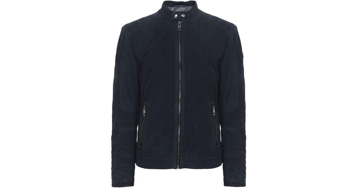 6a69802ea BOSS Orange Blue Suede Jondrix Jacket for men