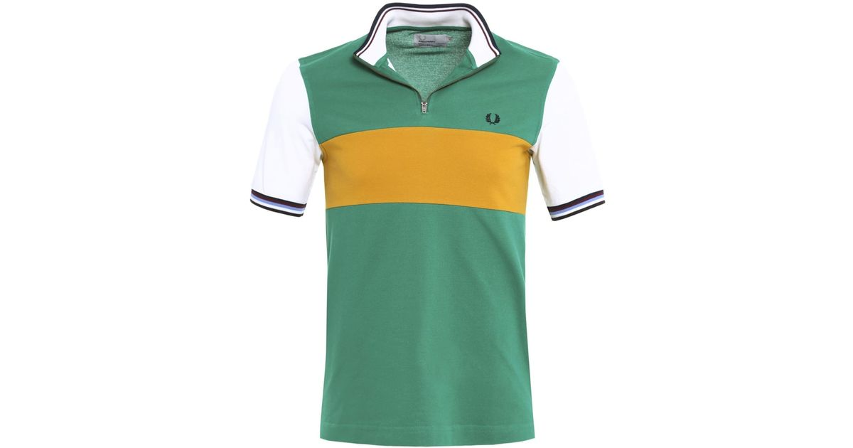 Lyst - Fred Perry Bradley Wiggins Colour Block Cycling Shirt for Men 6d431cd18