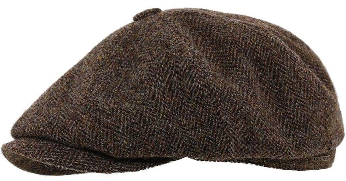 Stetson Hatteras Woolrich Herringbone Cap in Brown for Men - Lyst 1ed8919a226
