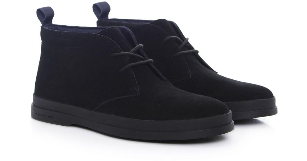 b31892aa551 PS by Paul Smith - Black Suede Inkie Chukka Boots for Men - Lyst