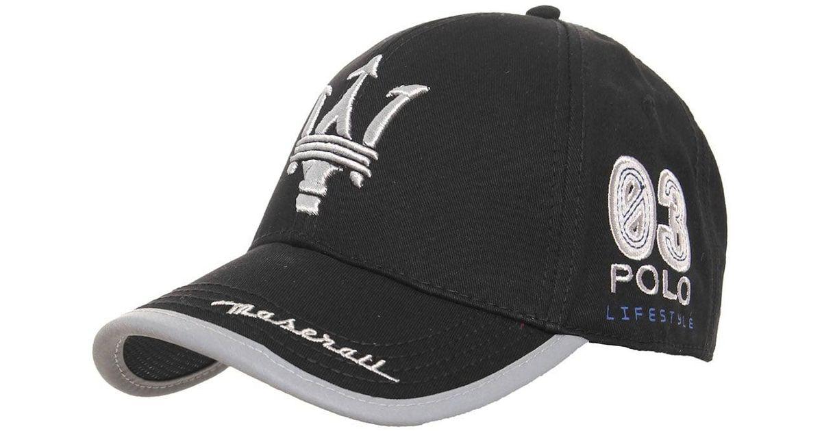 La Martina Maserati Archie Baseball Cap in Black for Men - Lyst 8a5f7506c5d