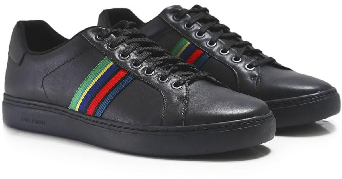 0e74946fe8 PS by Paul Smith Black Leather Lapin Trainers for men