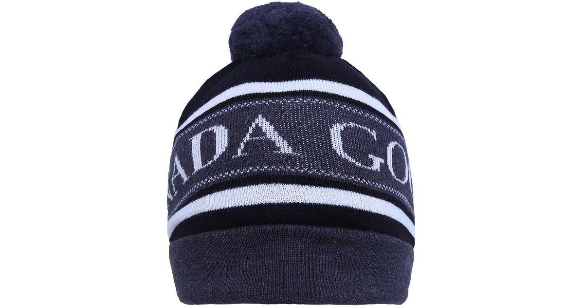 4755d333312 Lyst - Canada Goose Merino Wool Pom Pom Beanie Hat in Black