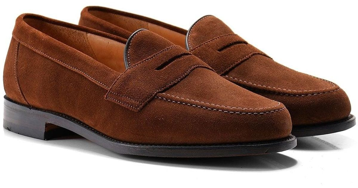 6ed916c2b00 Loake Eton Mens Tobacco Suede Loafers in Brown for Men - Save 13% - Lyst