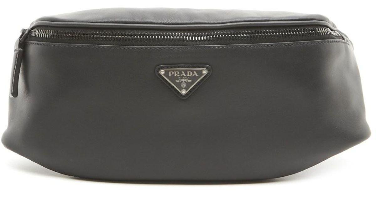21a99146d916 Lyst - Prada Logo Fanny Pack in Black for Men - Save 9%