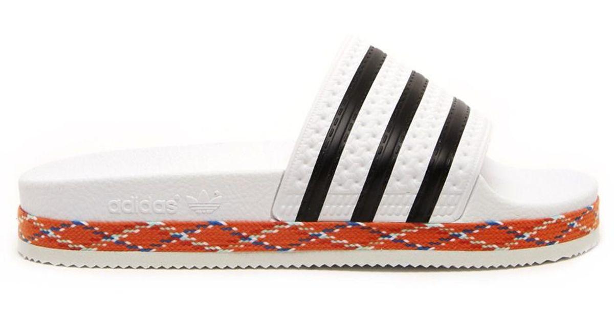 838d129558b2 Lyst - adidas Originals Adilette New Bold Slides