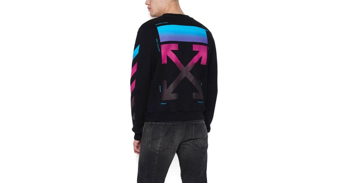 05d59566cf8 Off-White c o Virgil Abloh  diag Gradient  Sweatshirt in Black for Men -  Lyst