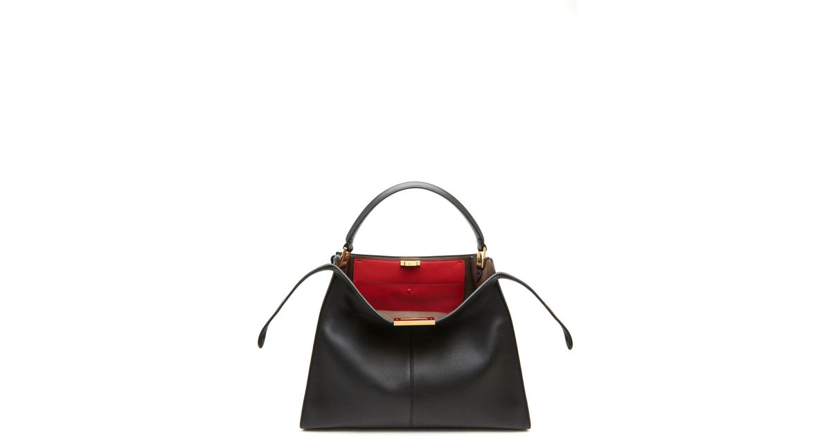 f984eb176249 Lyst - Fendi  peekaboo X-lite  Hand Bag in Black