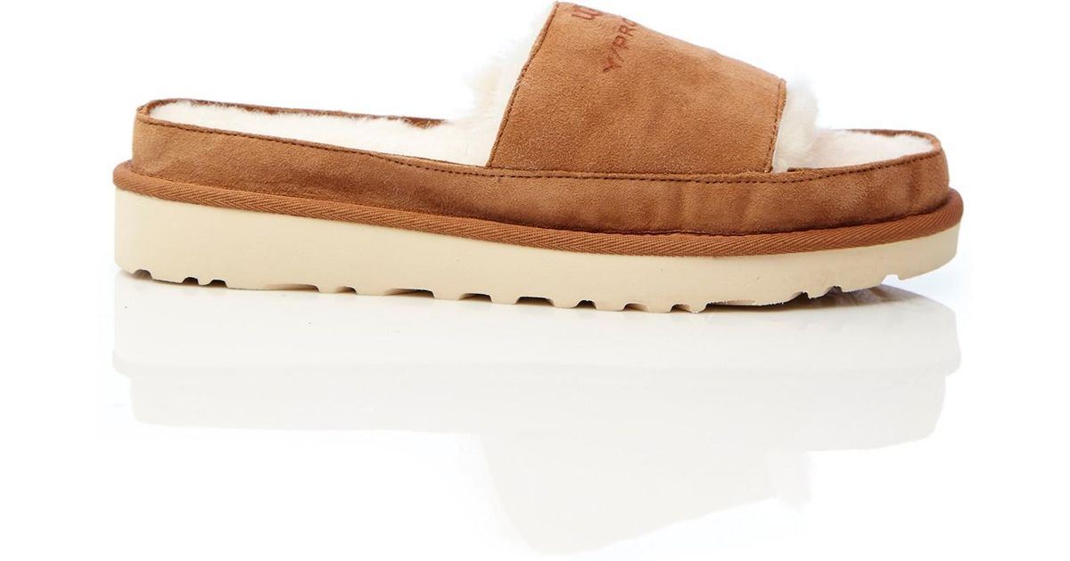 f88846d2e0c Y. Project - Brown Ugg Shearling Slides - Lyst